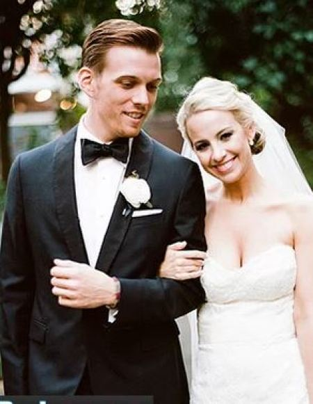 Allie Wood and Jake Abel on their big day