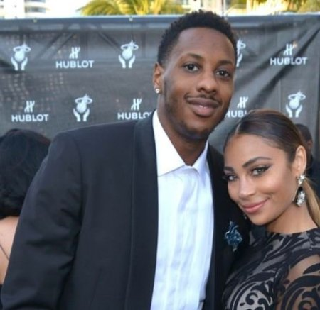 Mario Chalmers and her girlfriend, Paije Speights
