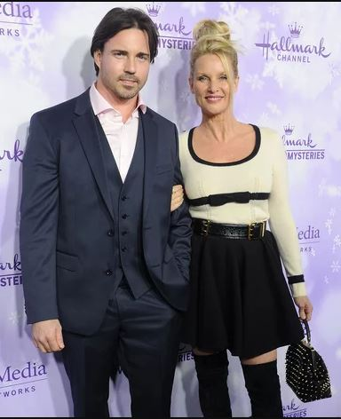 Nicollette Sheridan with her former husband