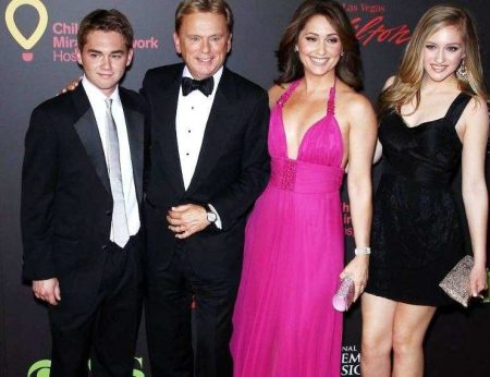 Pat Sajak with his family
