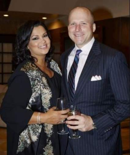 Sukanya Krishnan with her husband, Eric Schroeder