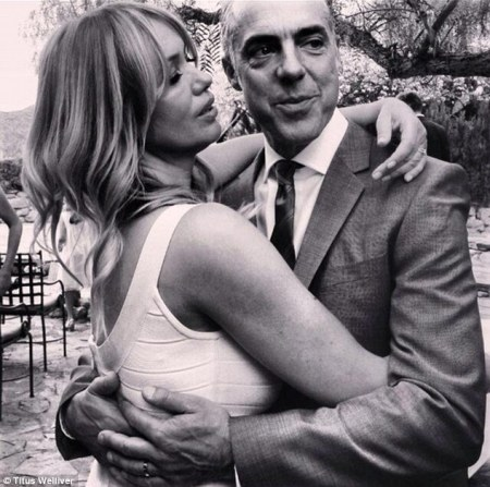 Jose on her wedding day with husband Titus welliver.