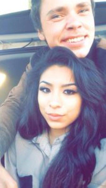Elena took a picture with her former boyfriend Sam