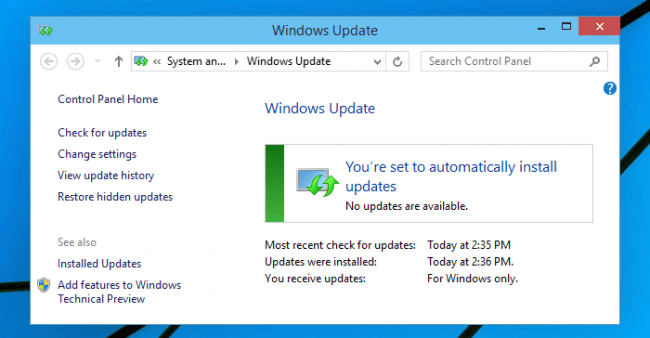 Keeping your PC updated