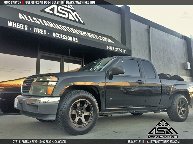 Black Gmc Canyon On 18 Inch Fuel Offroad Wheels D564 Beast