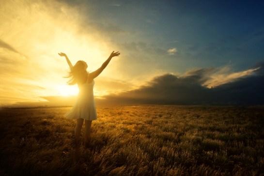 Worship praise at sunset