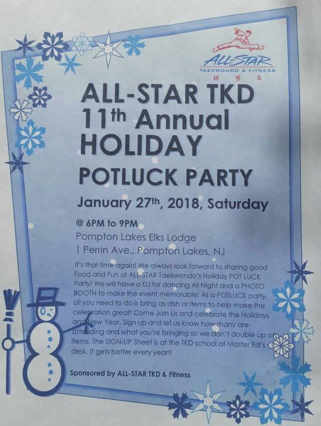 Taekwondo Holiday Party