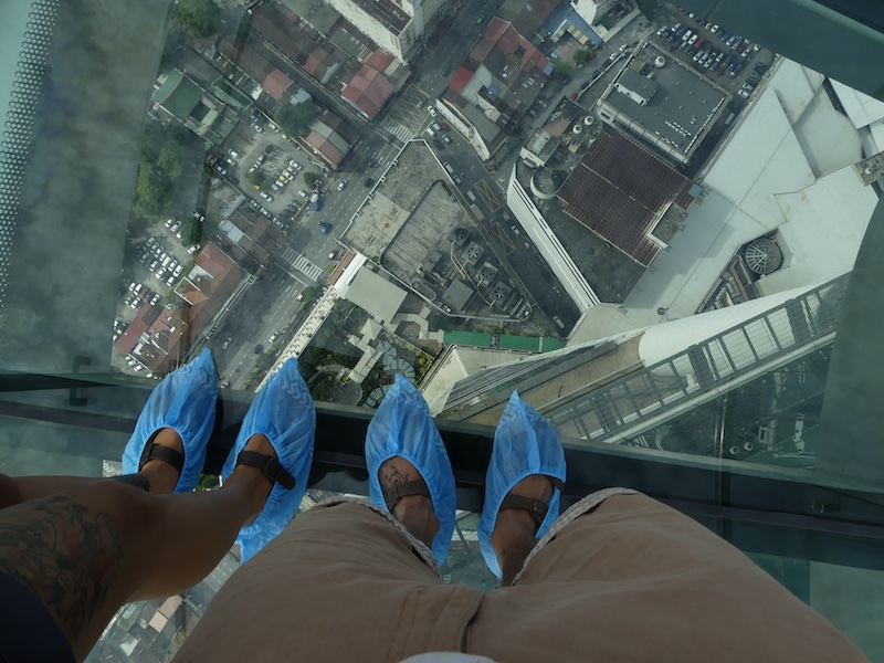 Skywalk, Penang, Komtar, 64 Stock, Alltagsgewusel, Weltreise, Travel