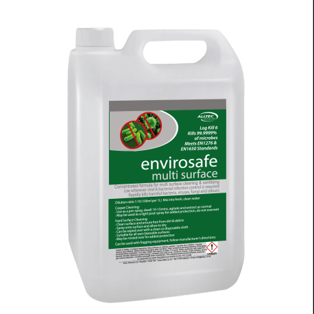 new envirosafe label 5L bottle