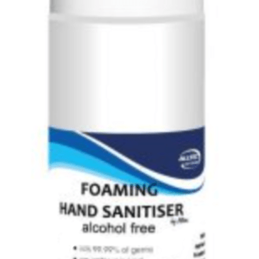 20 x 200ml Alcohol Free Foaming Hand Sanitiser – also available with your own labels