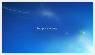 setup is starting - Windows 7 - Create a Windows 7 bootable USB under 9 minutes