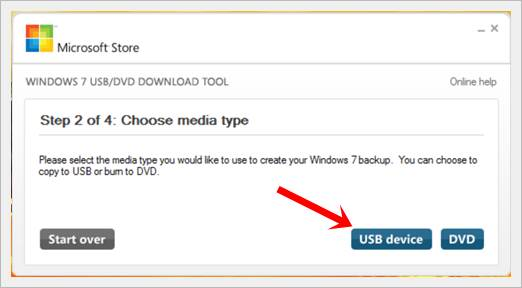 create a windows 7 bootable usb in under 9 minutes -windows 7 USB tool select media
