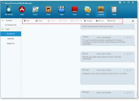 Vibosoft Android Mobile Manager - Manage Text Messages