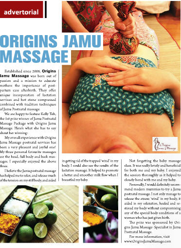 origins jamu massage TM winner