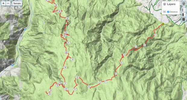 Hunter Lake Jeep Trail Map GPS