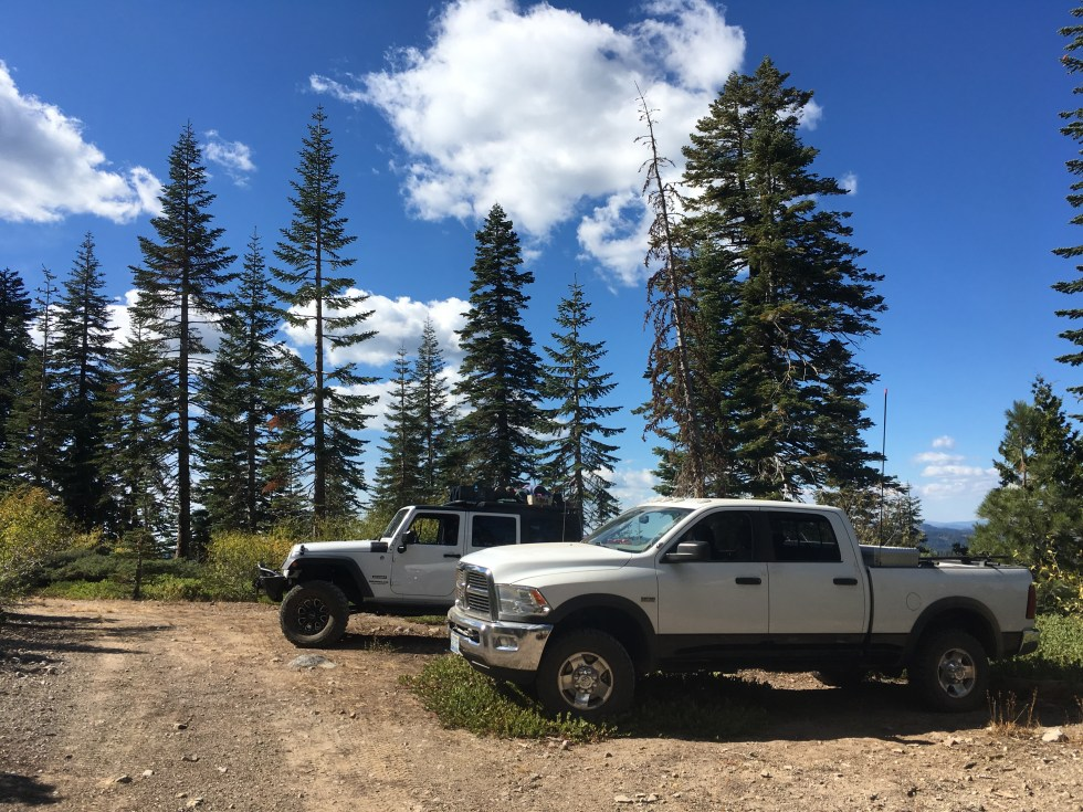 Truck posing on the Relaxing in the sun on the Plumas Backcountry Discovery Trail