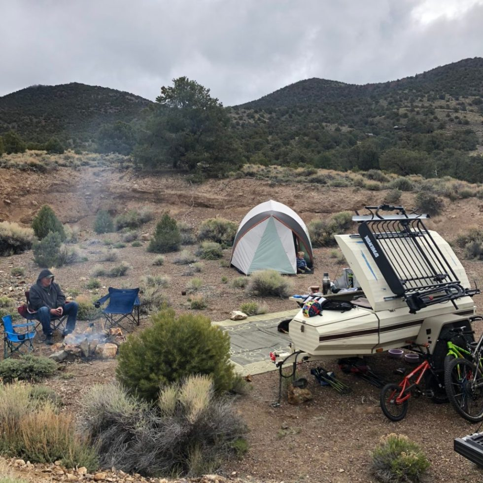 Central Nevada Camping with our off-rad Trailer