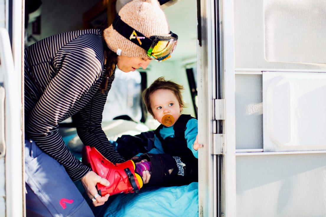 Getting kids ready to ski
