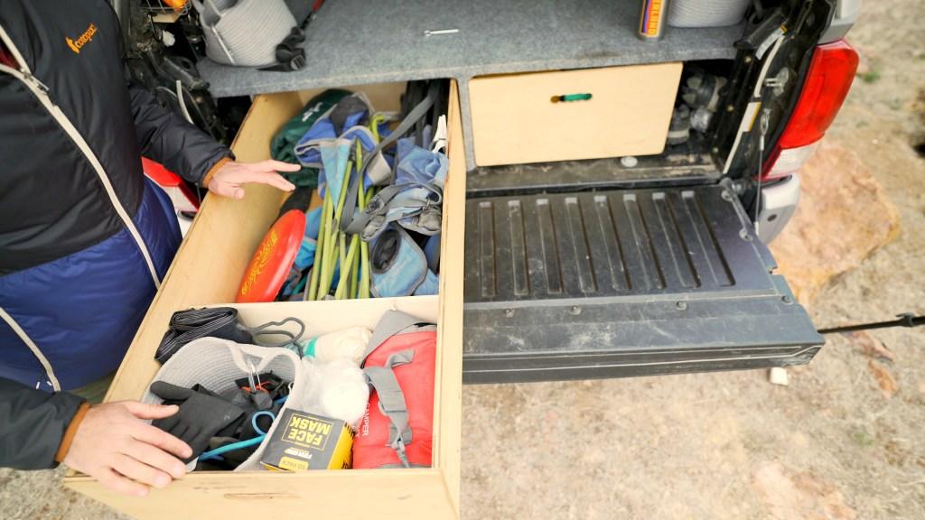 Drawer storage for overlanding