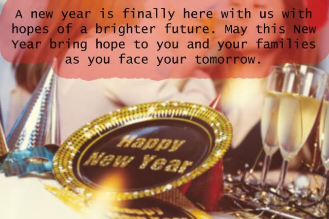 A new year is finally here with us with hopes of a brighter future.