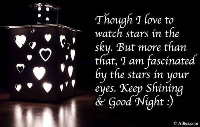 I love to watch stars in the sky