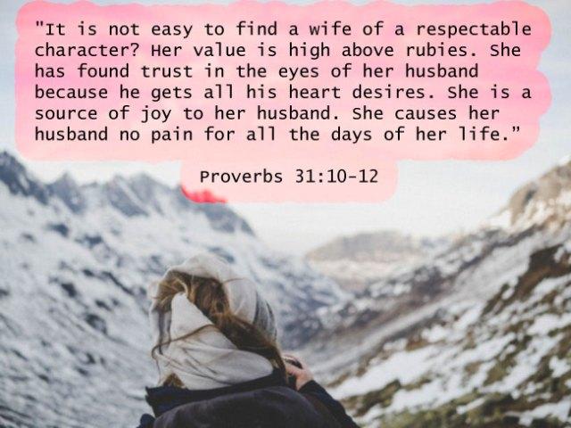 Proverbs 31-10-12