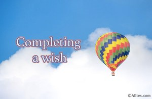 completing a wish