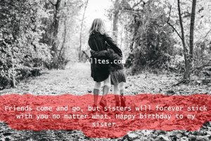 friends come and go, but sisters will forever stick with you no matter what