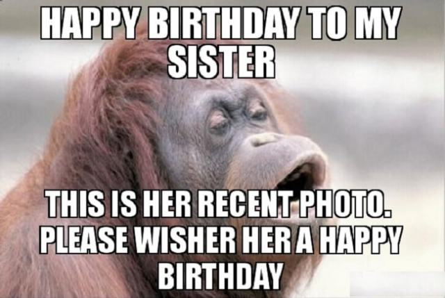 happy birthday dear sister funny