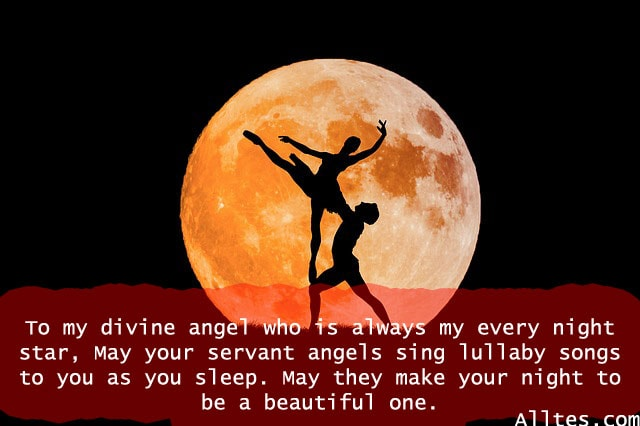 to my divine angel who is always my every night star