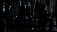 """Favorite bromance (M): Damon and Alaric - The Vampire Diaries. Alaric's dead was one of the most shocking ones on television this year. For Damon it meant that he lost his drinking buddy and he have be searching for one ever since. When the gang decided to honor all their deceased family members and friends, Damon took off to the cemetery. After a long speech to Alaric's tombstone, the viewers were surprised by the appearance of Alaric (in the afterlife) who said """"I miss you too, buddy"""". Awww!"""