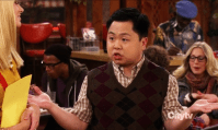 Nerd-alert! (C): Han Lee - 2 Broke Girls. Every time Alex on Modern Family outdoes her family with a snarky smart comment, leaves me chuckling. Poor Han on 2 Broke Girls though, so. much. teasing. That certainly deserves some sort of shout out.