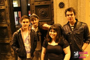 The winners of Battle of the Bands 2011, who became quite friendly with!