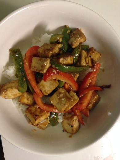 tofu and pepper stir fry