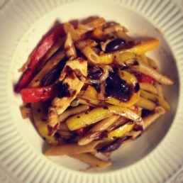 chicken pepper olive pasta