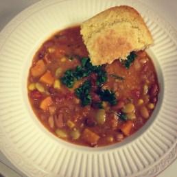 mixed bean and squash stew