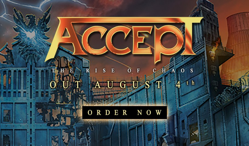 Accept's New Album The Rise Against Chaos Out On August 4th