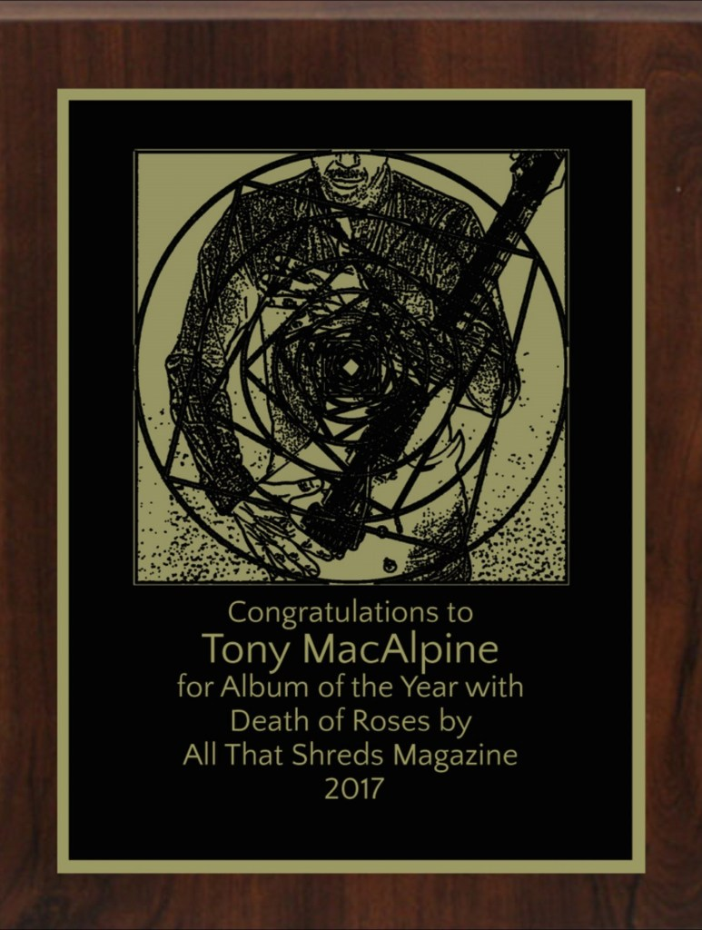 Tony MacAlpine's Death Of Roses - All That Shreds Magazines Album Of The Year 2017