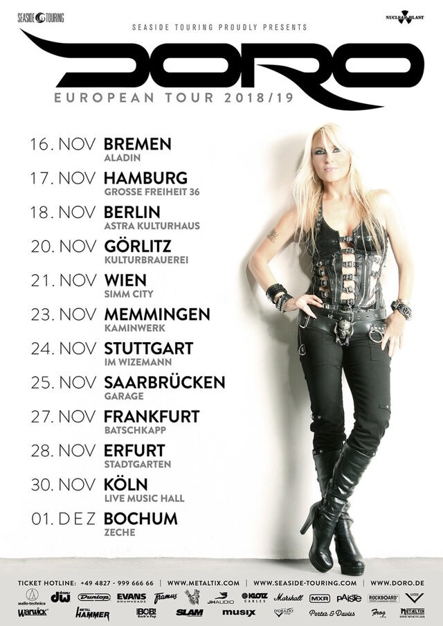 Doro Announces New Album Due August 3, 2018