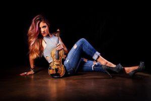 Rock Violinist Emily V Tearing It Up At NAMM 2018