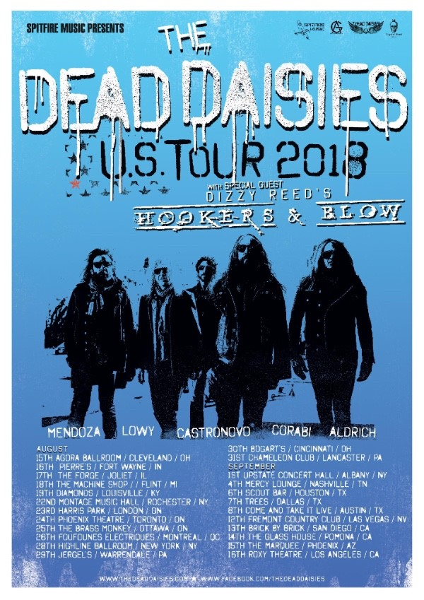 The Dead Daisies Announce North American Tour With Dizzy Reed's Hooker's And Blow