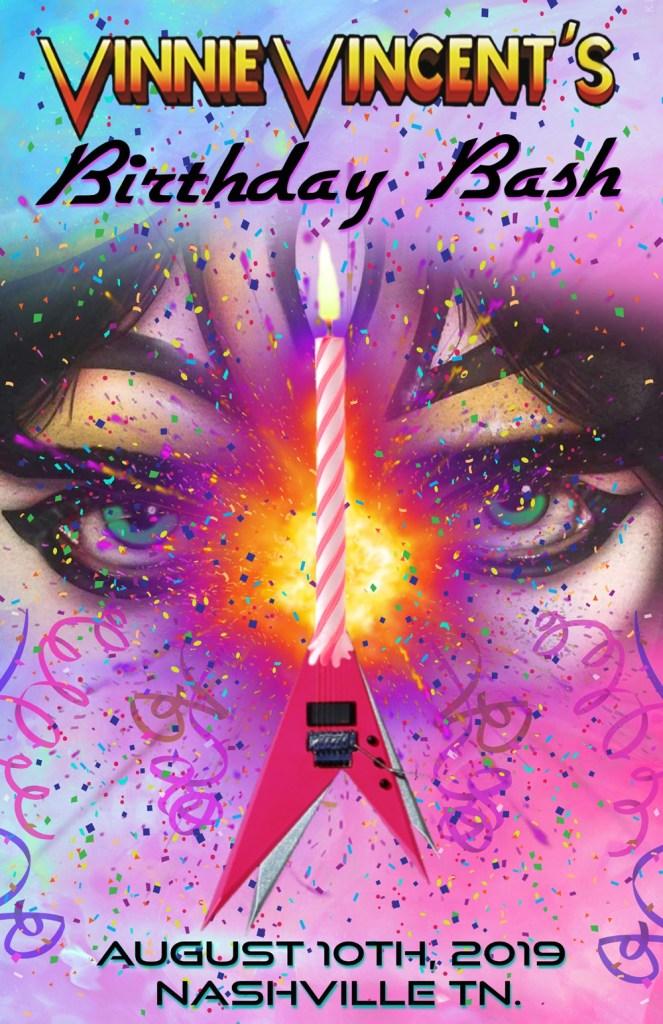 Ex-KISS Guitarist Vinnie Vincent Announces 'Birthday Bash'