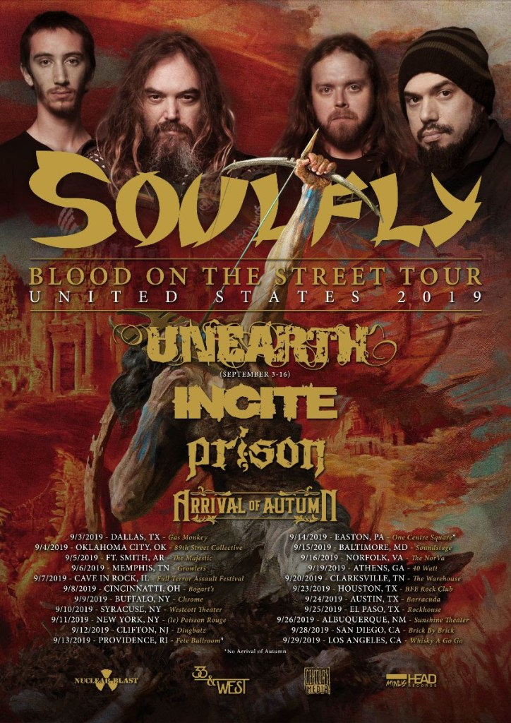 Marc Rizzo & Soulfly Announce Blood On The Street 2019 U.S. Tour