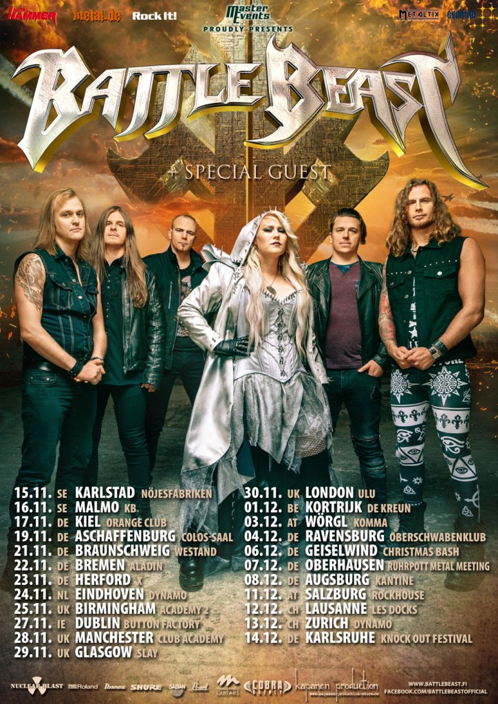Battle Beast Confirmed As Special Guests To Hammerfall's 2020 Tour