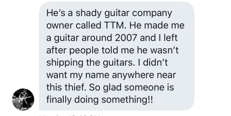 Two More Government Agencies Investigating Lance Benedict & TTM Guitars For Alleged Fraud