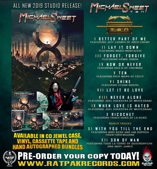 "Stryper's Michael Sweet Set To Release ""10"" Solo Album On 9/20"