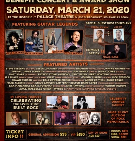Steve Stevens, Orianthi, Steve Lukather Among Guests For The 8th Annual Rock Against MS Benefit Concert On 3/21