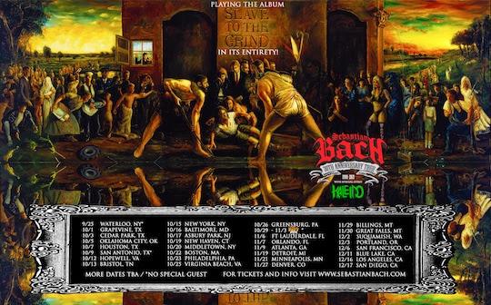 Sebastian Bach Announces Fall 'Slave To The Grind' 30TH Anniversary Tour Dates