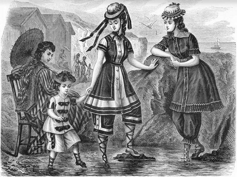 Women's Swimwear In 1876