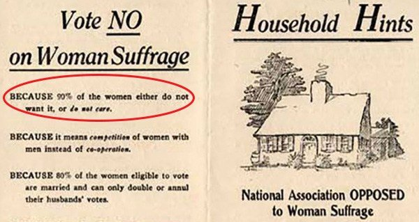 The AntiSuffrage Movement Founded By Women In The Early 1900s
